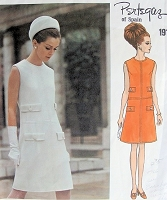 1960s ELEGANT Pertegaz Dress Pattern VOGUE Couturier Design 1916 Semi fitted A Line Sleeveless Dress  Day or After 5 Bust 32.5 Vintage Sewing Pattern