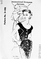 1950s STUNNING Cocktail Evening Slim Dress Pattern Biki of Italy For SPADEA International Designers 201 Low Scoop Neckline,Day or Evening Slim Dress Bust 40 Vintage Sewing Pattern FACTORY FOLDED