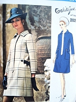 1960s MOD Designer Galitzine A-line Step-In Coat Dress Pattern VOGUE COUTURIER Design 2023 Vintage Sixties Sewing Pattern UNCUT