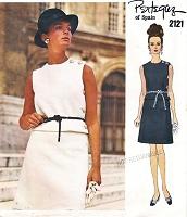 4ce8b82b565 1960s CHIC PERTEGAZ 2 PC Dress Pattern VOGUE Couturier Design 2121 Lovely  Side Button Top