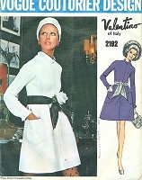 Mod 1960s Valentino Dress Pattern Figure Flattering Design Vogue Couturier Design 2192 Bust 32 Vintage Sewing Pattern