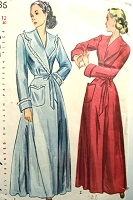 1940s PRETTY HouseCoat Robe Brunch Robe Lounging Pattern SIMPLICITY 2236 Bust 34 Vintage Sewing Pattern