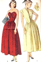 1940s LOVELY Strapless Sun Dress and Jacket Pattern SIMPLICITY 2395 Beautiful Flattering Design Daytime or Evening Bust 32 Vintage Sewing Pattern