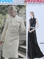 1970s Elegant  Pierre Balmain Day or Evening Dress Pattern VOGUE Paris Original 2696 Surplice Asymmetrical Closing Bust 34 Vintage Sewing Pattern FACTORY FOLDED