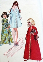 1960s SWEET Little Girls Robe Bathrobe Pattern McCALLS 2697 Three Pretty Versions Size 4 Vintage Childrens Sewing Pattern FACTORY FOLDED