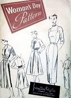 1950 Rare PAULINE TRIGERE WOMANS DAY Pattern 3267 Amazing Chameleon Dress,Princess Seamed Sheath, OverSkirt, Bolero Jacket,Long Stole Bust 34 Vintage Sewing Pattern