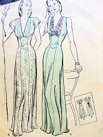 1940s GLAMOROUS Nightgown Lingerie Pattern BUTTERICK Dreamy Fitted Gown With Princess Effect Two Beautiful Styles Bust 32 Vintage Sewing Pattern