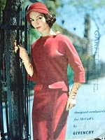 1950s RARE Givenchy Two Pc Dress Pattern McCALLS 4223 Classy Slim Skirt, Boxy Top Bust 32 Vintage Sewing Pattern FACTORY FOLDED