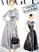 50s LOVELY Day or Evening Dress Pattern VOGUE Special Design 4820 Bust 36 Vintage Sewing Pattern