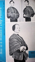 1950s STUNNING Five Way Cape Stole Womans Day 5045 Stylish Fur Stole Size Large Bust 36-38 Vintage Sewing Pattern