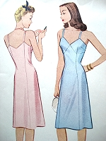 1940s PINUP Style Slip Pattern McCALL 5220 Figure Flattering Design Bust 32 WW II Slips Vintage Sewing Pattern