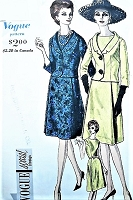 1960s CLASSY Dress and Jacket Pattern VOGUE Special Design 5505 Flared Dress, Fitted Jacket With Shawl Collar Day or Dinner Cocktail Party Bust 34  Vintage Sewing Pattern FACTORY FOLDED
