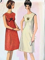 1960s LOVELY A Line Dress Pattern SIMPLICITY 5920 Figure Flattering Daytime or After 5 Cocktail Party Dress Bust 32 Vintage Sewing Pattern FACTORY FOLDED