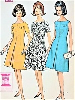1960s FLATTERING Dress Pattern McCALLS 7189 Lightly Fitted and Flared Proportioned Dress EASY To Sew Bust 36 Vintage Sewing Pattern FACTORY FOLDED