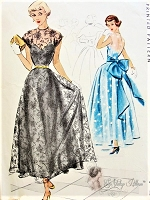1940s BEAUTIFUL Evening Dress Pattern McCALL 7422 Romantic Special Occasion Party Dress Perfect For Lace or Sheer Fabrics Bust 32 Vintage Sewing Pattern