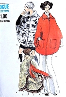 FAB 70s Poncho Cape Jacket Coat Pattern VOGUE 7670 Three Styles Vintage Sewing Pattern