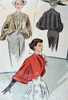 1940s DRAMATIC Coatee Jacket Pattern McCALL 7778 GLAMOROUS Wide Cuffed Jacket Day or Evening Bst 32 Vintage Sewing Pattern