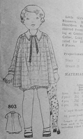 1930s Vintage ADORABLE Childrens Dress and Bloomers Sewing Pattern 803 Chest 21
