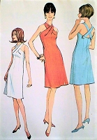 1960s STRIKING Cocktail Party Halter Dress Pattern McCALLS 8297 Twisted Neckline Criss Cross Back Bust 32 Vintage sewing Pattern