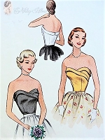 1950s GORGEOUS Bombshell Strapless Bodice Blouse Pattern McCALLS 8553 Sweetheart Curved Neckline Evening Bodice Bust 32 Vintage Sewing Pattern
