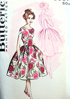 1950s GORGEOUS Evening Cocktail Party Dress Pattern BUTTERICK 8967 Princess Panelled Dress Bust 34 Vintage Sewing Pattern FACTORY FOLDED