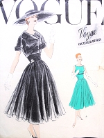 50s LOVELY Evening Party Dress Jacket Pattern VOGUE Couturier Design 916 Circular Full or Slim Skirt Empire Midriff Vintage Sewing Pattern