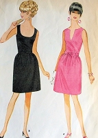 1960s FABULOUS Cocktail Party Evening Dress Pattern McCALLS 9318 Two Lovely Neckline Versions Bust 31 Vintage Sewing Pattern