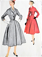 1950s FABULOUS Coat Pattern McCALLS 9274 Princess Style Full Skirted, Nip In Waist, Shawl Collar Classic Dior Design Bust 30 Vintage Sewing Pattern FACTORY FOLDED
