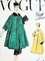 1950s Pure Elegance SWING Coat and Slim Skirt Pattern VOGUE COUTURIER Design 986 Beautiful Full Coat or Jacket Built Up Waist Slim Skirt Bust 34 Vintage Sewing Pattern + Sew In Label