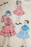 1950s CUTE Vintage Childs Dress and Bolero Advance 6342 Chest 26 Sewing Pattern