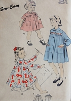 Vintage 1950s CUTE Childs Smock Advance 6496 Chest 23 Sewing Pattern