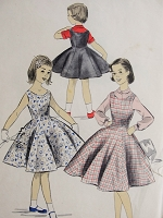 Vintage 1950s PRETTY Childs Blouse and Jumper or Dress Advance 8102 Chest 26 Sewing Pattern