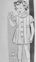 Vintage 1930s DARLING Childs Button up Dress Anne Adams 4075 Chest 24 Sewing Pattern