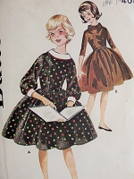 1950s PRETTY Vintage Full Skirted Dress Butterick 9846 Chest 25 Sewing Pattern
