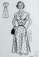 Vintage 1950s STYLISH Shirt Dress with Pockets Marian Martin 9295 Sewing Pattern Bust 32