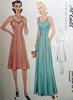 1940s SLINKY Slip Pattern McCALL 3859 Two Beautiful Slips in Day and Evening Full Length, Would Make a Fab Evening Dress,Bust 36 Vintage Sewing Pattern
