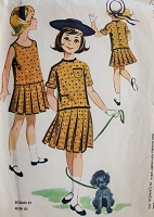 Vintage 1950s SWEET Childs Jumper Dress and Jacket McCalls 4646 Chest 24 Collectible HELEN LEE Vintage Childrens Sewing Pattern