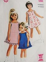 54880b7d3 1960s CUTE Girls Jumper Pattern SIMPLICITY 8372 Mod Jumper or Dress ...