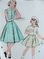 1950s Vintage CUTE Childs Dress and Jacket McCalls 9731 Chest 23 Sewing Pattern