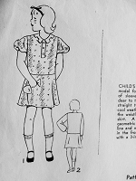 Vintage 1930s  PRETTY Childs Dress with Puff or Straight Sleeves Superior Pattern 571 Sewing Pattern