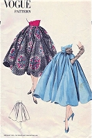 1950s BEAUTIFUL Full Skirt Pattern VOGUE 7269 Four Gored Circular Skirt Day or Evening Waist 28 Vintage Sewing Pattern