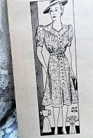 1930s FLATTERING Dress Pattern ANNE ADAMS 4174 Slimming Style Front Button Dress 2 Pretty Sleeve Styles Bust 34 Vintage Sewing Pattern FACTORY FOLDED