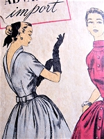 1950s DRAMATIC Couture Party Dress Pattern ADVANCE IMPORT 112 Madeleine de Rauch Designer Bust 32 Vintage Sewing Pattern