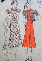 1930s Vintage CHARMING Dress in Two Styles with Sash or Belt and Bolero Advance 1956 Pattern Bust 32