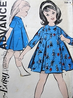 1950s SWEET Pleated Tent Toddler Dress Advance 2812 Sewing Pattern Chest  21