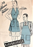Vintage 1940s CLASSIC Man's and Woman's Apron with Deep Pockets Advance Pattern 3798 Sewing Pattern