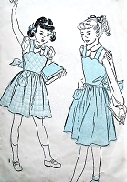 1940s Girls SWEET Jumper Dress and Puff Sleeve Blouse Pattern ADVANCE 5061 Adorable Styles Size 12 Vintage Childrens Sewing Pattern
