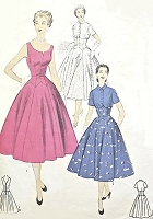1950s FABULOUS Short Bridal Dress or Party Dress and Bolero Jacket Pattern ADVANCE 6744 Beautiful Figure Flattering Design Bust 30 Vintage Sewing Pattern
