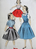 1950s Vintage CHARMING Girls Blouse, Jumper, and Overblouse Advance 7710 Chest 26 Sewing Pattern
