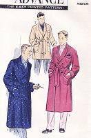 1950s DAPPER Hugh Heffner Style Lounging Robe Bathrobe or Smoking Jacket Pattern ADVANCE 7872 Two Lengths Medium Size Vintage Sewing Pattern FACTORY FOLDED